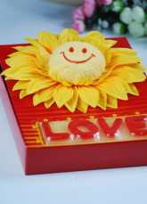 Sunflower Light Yellow 100% Cotton Towel Gift Box