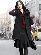 Женская одежда Пальто длинное пальто чёрного.  Ваша позиция.
