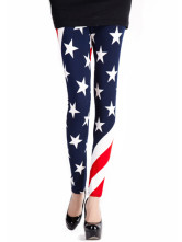 Blue Stars Spandex Polyester Women's Leggings