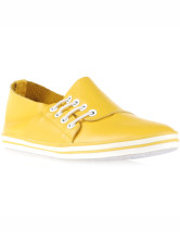 Ct jaune Bandage vachette Womens Flat Oxfords