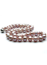 Purple AA 42cm Freshwater Pearl Necklace For Women