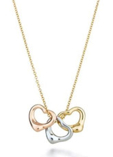 Attractive Three Color 925 Silver Necklace For Women