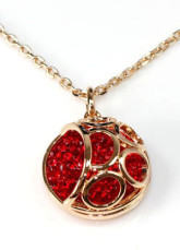Collier en or Classic Ruby plaqué