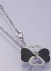 Classic Titanium Steel Flower Ladies Necklace