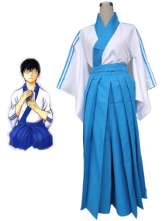 Gintama Shimura Shinpachi 65% Cotton 35% Polyester Cosplay Costume
