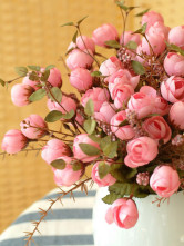 Beautiful Pink Silk Cloth Silk Flower Arrangements For Decoration