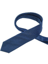 Deep Blue Stripe Yarn-Dyed Silk Ties For Man