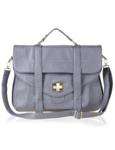 36*31*6cm Fashion Light Blue PU Womens Tote