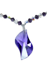 Mode Me The Heart Of The Ocean Violet Swarovski Crystal Collier Sterling