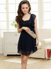 Платье темно-синее.