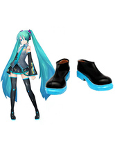 Vocaloid Hatsune Miku Imitated Leather Cosplay Shoes