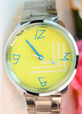 Yellow And Silver Analogue Mechanical Stainless Steel Alloy Women's Watch