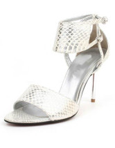 "Attractive Silver 3 1/2"" Heel PU Fashion Sandals For Women"
