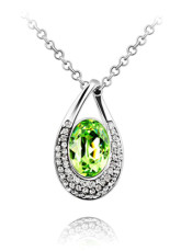 Beautiful Modern Alloy Swarovski Crystal Womens Necklace
