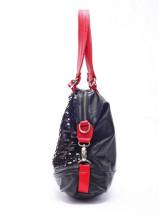 Повседневный Черный Красный PU двумя скобами Sequin леди Сумка.