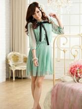 ...12(38)Bust-92cm shoulder: 39cm sleeve length:40cm Dress length: 88cm