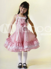 Sweet Red Check 100% Cotton Sleeveless Childrens Lolita Dress