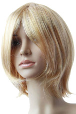 Women's Gold Short Wig