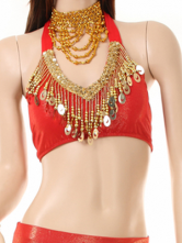 Attractive Colorful High Elastic Meryl Belly Dance Tops