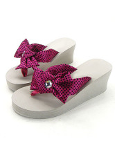 Beautiful Bow 2 2/5'' Heel 4/5'' Platform Wedge EVA Womens Fashion Flip Flop