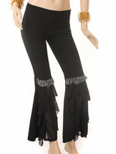 Black Cotton Beads Belly Dance Pants