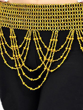 Gold 100% Polystyrene Beads Belly Dance Hip Scarf