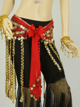 Gorgeous Colorful 100% Chiffon Tassel Belly Dance Hip Scarf