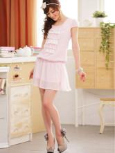 Артикул - 77110726.  Платье полиэстр/хлопок, цвета белый, черный.