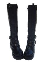 Мода черный 3 1 / 5 '' Высокие ботинки PU Пятка Лолита - Milanoo.com.