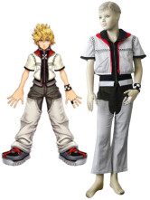 White And Black Uniform Cloth Kingdom Hearts 2 Roxas Kids Cosplay Costume