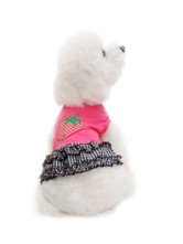 Adorable Pink Strawberry 100% Fleece Dog Dress