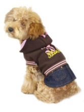 Attractive Coffee Jean Hood Pet Dress
