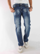 Blue Denim 98% Bamboo Cotton 2% Bamboo Fiber Mens Jeans