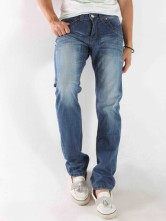 Quality Blue 98% Bamboo Cotton 2% Bamboo Fiber Denim Mens Jeans