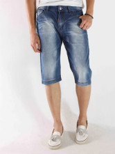 Stylish Blue 98% Baumwolle 2% Fiber Stars Mens Short Jeans