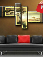5pcs Beautiful Quality Canvas Oil Painting Sets