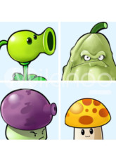 Popular Plants VS Zombies 170*55cm PVC Removable Wall Decor Sticker