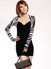 ...поддельные два куска длинные рукава мини партии платье - Milanoo.com.