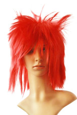 Women's Red Short Straight Cosplay Wig