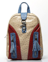 Colorful Tassel 30*12*36cm PU Womens Backpack