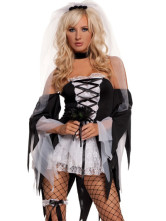 ASexy Corpse Bridal Halloween Costume Fancy Dress