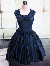 Jewel Neck Ruffles Cotton Classic Lolita Dress