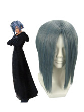 Gray 40cm Kingdom Hearts Zexion Nylon Cosplay Wig
