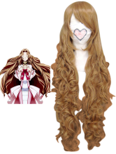Light Golden 90cm CodeGeass Nunnally Vi Britannia Nylon Cosplay Wig