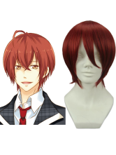 Red 30cm Starry Sky Tomoe Yoh Nylon Cosplay Wig
