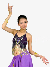 Violet Imité Sequin soie Belly Dance Bra