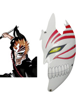Cool White PVC Bleach Kurosaki Ichigo Hollow Half Face Cosplay Mask