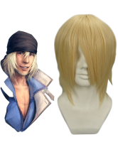 Light Gold 35cm FINAL FANTASY 13 SNOW Nylon Cosplay Wig