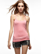 Pink 65% Cotton 35% Polyester Womens Camisole