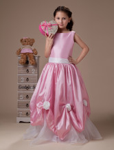 Robe du cortge enfant en taffetasen organza 